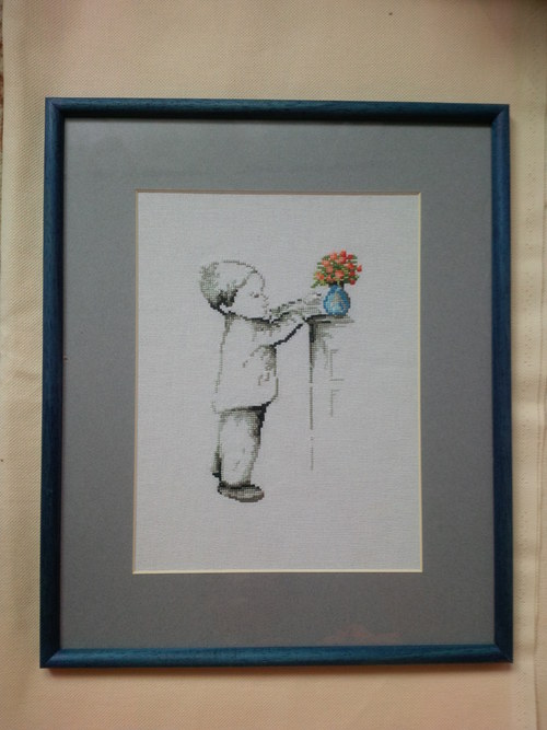 Vyšívaný obrázek chlapec