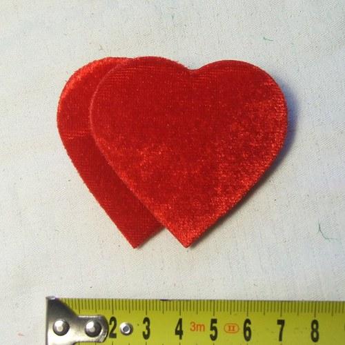 Dvě sametová srdce s klipsem