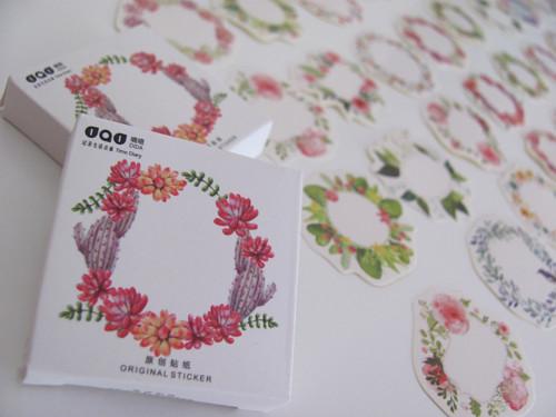 Květinový věneček- sada 45 ks nádherných samolepek