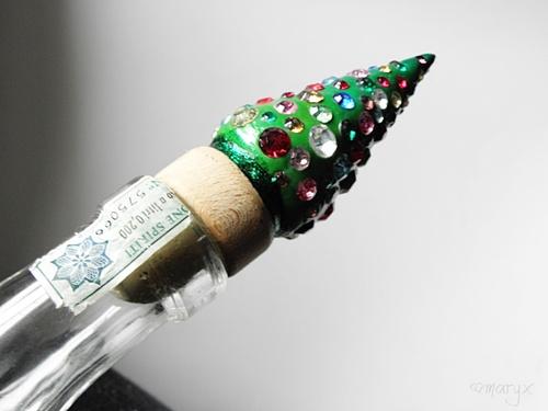 Zátka na víno vánoční stromeček