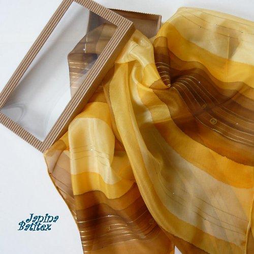 Hedvábný šátek - Medový