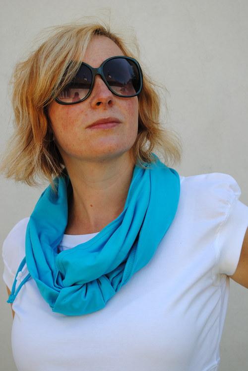 Šátek na více způsobů- tyrkysový