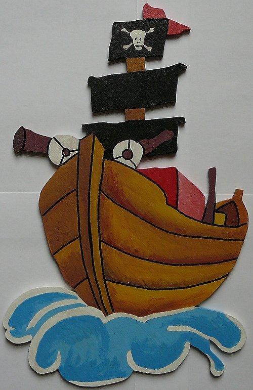 Dekorace pirátská loď