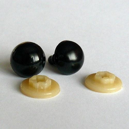 Bezpečnostní oči - černá, 14 mm