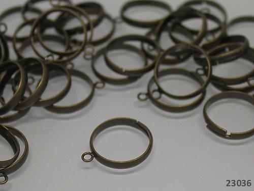 23036-10 Prsten. základ s očkem BRONZ, MEGA 10ks