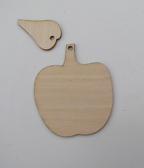 Domaluj si sám - jablíčko s lístkem