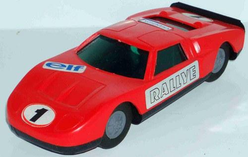 ITES - plastový FORD GT - červený - 70.tá léta