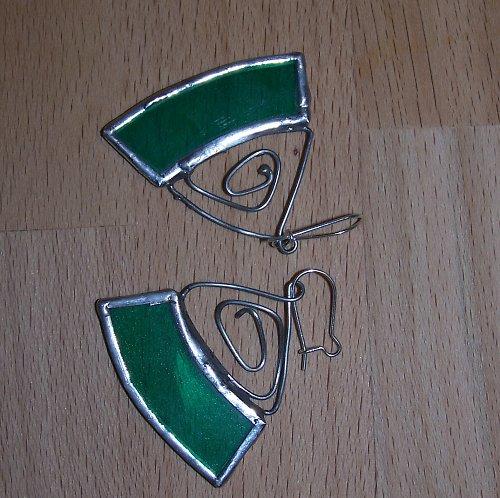 naušnice Tiffany-zelené