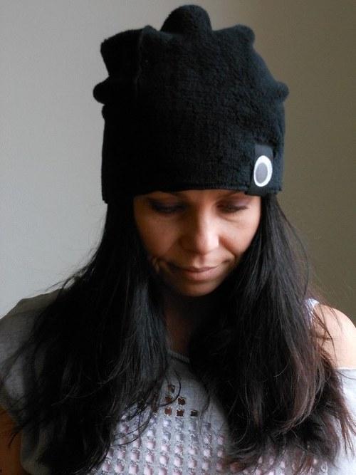 Čepice....plyšák,-)  černý