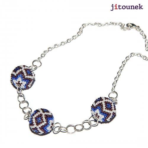 Modrofialový náhrdelník