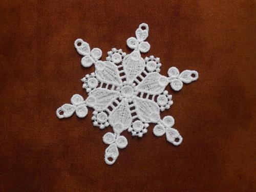 Vánoční ozdoba - sněhová vločka bílá AP1124009