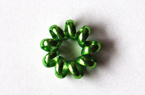 Hrubé kolečko 7x20mm -  zelené