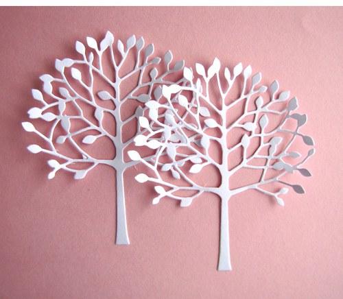Listnatý strom č.1 bílý - 2 ks