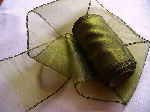 organza stuha 11cm- oliva