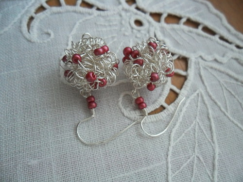 Náušničky motanice růžové