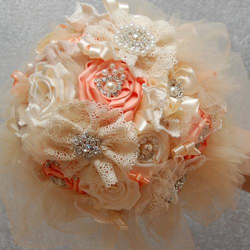 Vintage svatební kytice Shabby Shic