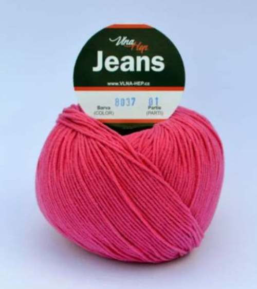 Jeans tmavě růžová 8037