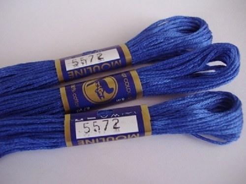 Vyšívací příze mouline - královská modř