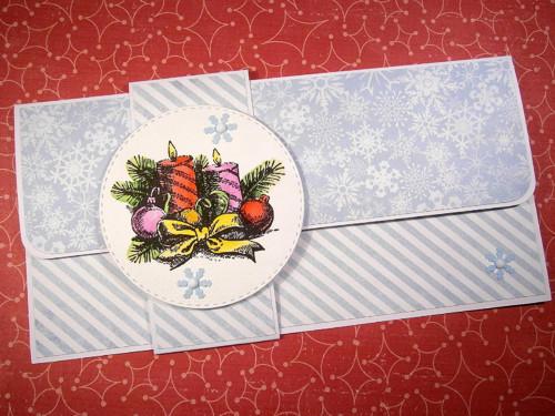 Vánoční přání s kapsou na peníze č. 13