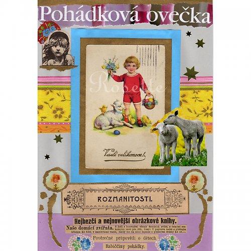 Pohádková ovečka - fotoreprodukce autorské kol