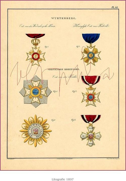 Medaile a řády I ( I - VI )