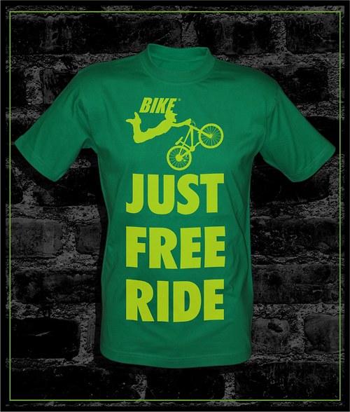 Pánské zelené tričko Bike
