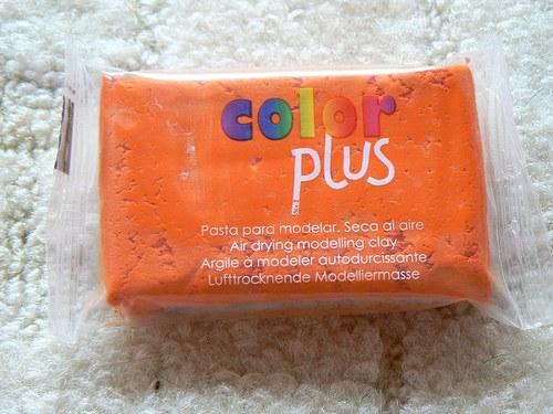 Samoschnoucí hmota Color Plus oranžová 75g