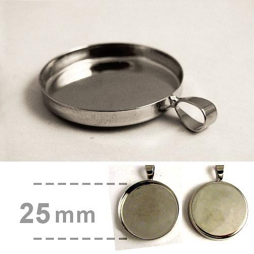 Hluboké lůžko kruhové (25mm) - platina