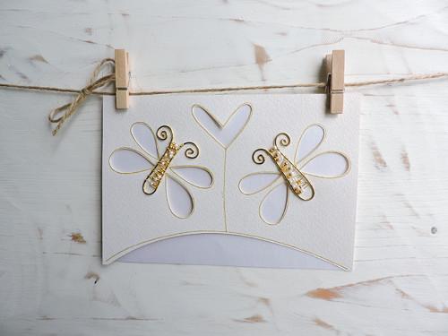 Svatební blahopřání motýlci...