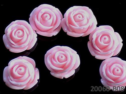 20060-08 Kabošon květ růže RŮŽOVÝ, bal. 2ks