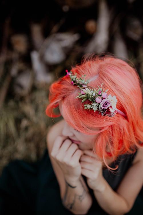 """Květinová čelenka \""""obyčejné ráno\"""""""