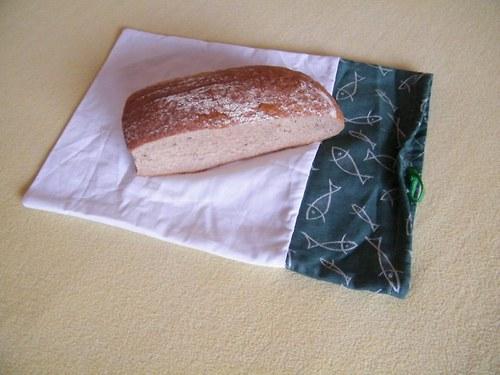 Pytlík na chleba Zelená rybka 30x45