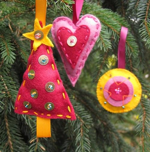 Vánoční ozdoby 3 kousky