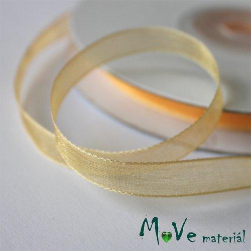 Šifónová stuha oranžová 6mm, 1m
