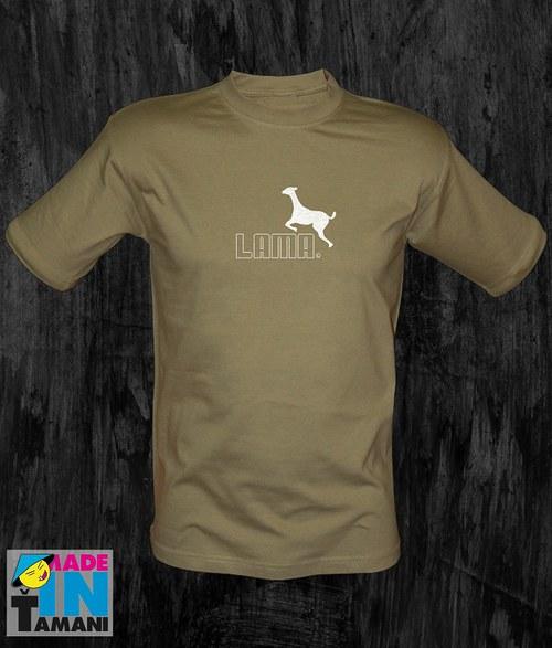 Pánské khaki tričko s Lamou 05