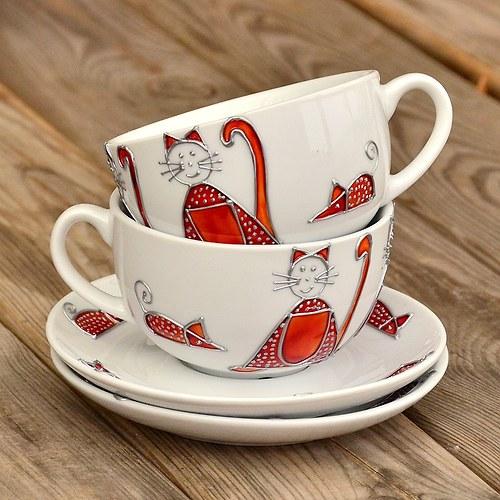 Kočičí, čajový hrneček