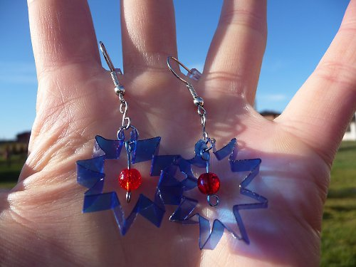 plastové hvězdy
