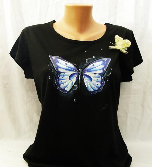 modrofialkový motýlek-vel:L