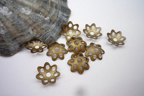 XL balení - bronzové kaplíky  120 ks 8 mm