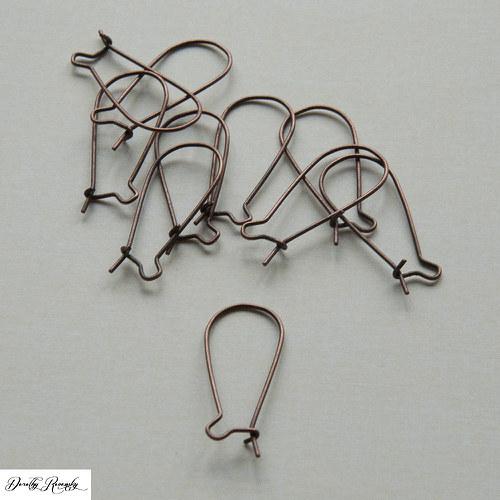háčky do uší - medené - 10 ks
