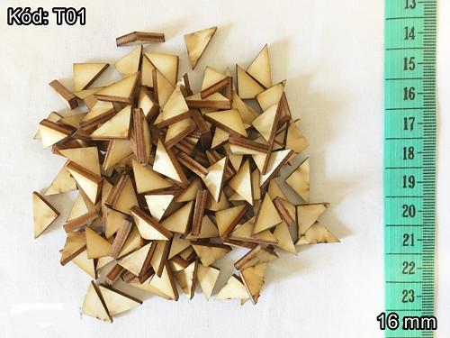Trojúhelníky 16 mm - cena za 10 ks