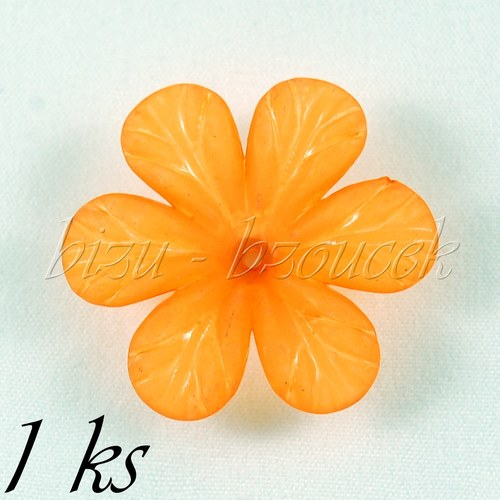 Oranžový akrylový květ - 1ks