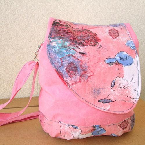 Kabelka a batůžek 2 v 1 - Růžová pláž