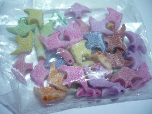 Korálky z polymerové hmoty - rybičky