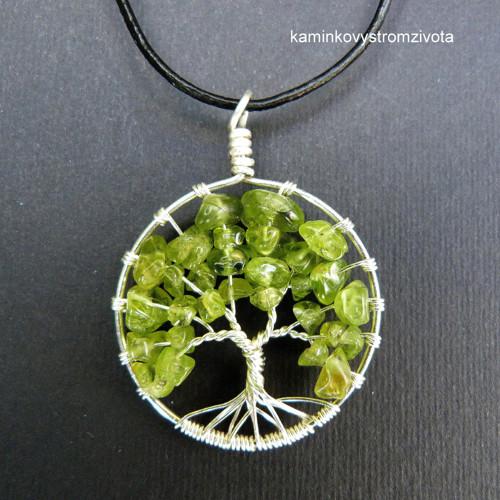 Přívěsek Strom života  s olivínem