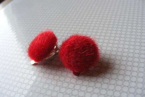 Klipsy - červené chloupky