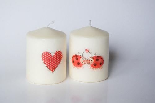 Sada zamilovaných svíček