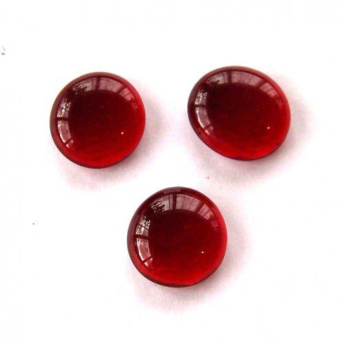 Skleněné Čočky 2cm - 2ks - Červené