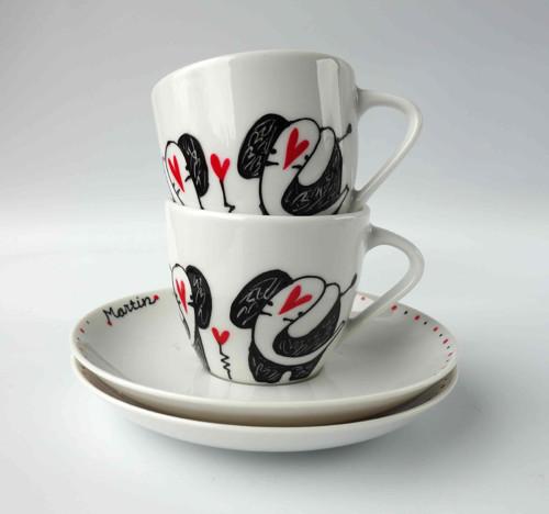 espresso hrníček - zamilovaní sloni