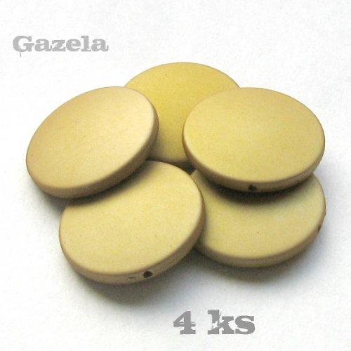 Pogumovaná zlatá kolečka - 4 ks